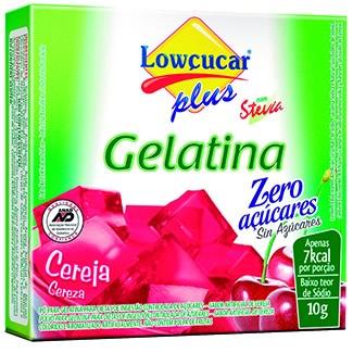 Gelatina Loçucar Plus com Stevia Sabor Cereja